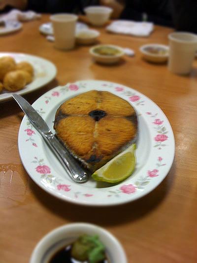 蔡包李小吃部-乾煎魚土魠魚