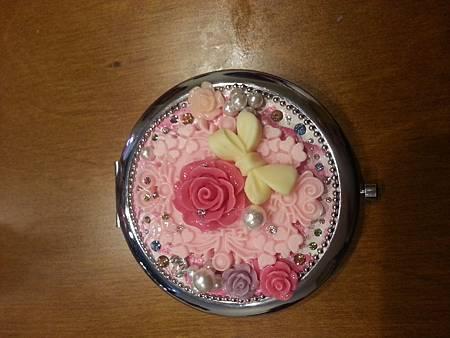 我的作品-薔薇花摺疊鏡