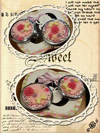 大家的作品-薔薇花摺疊鏡