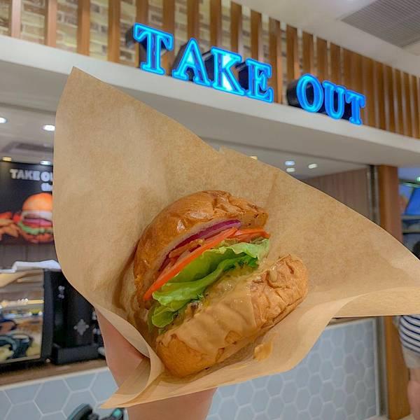 【林口美食】Take Out Burger美式餐廳|林口三井outlet 美味手工漢堡!