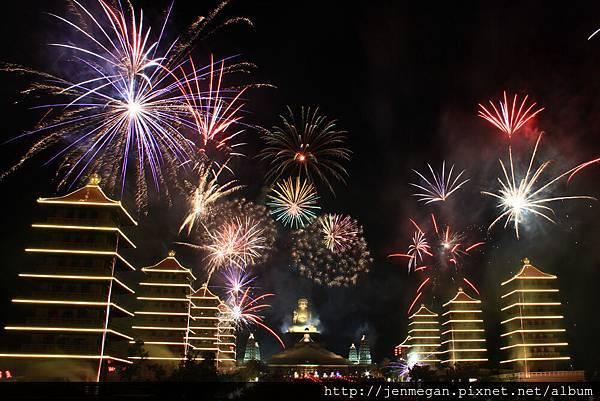 20130222-佛館提燈大會煙火... 又練