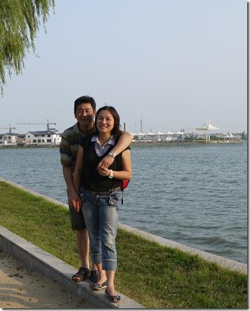 彤彤幫爸比和媽咪拍的合照