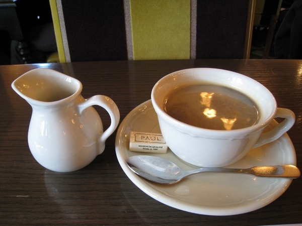 套餐的熱咖啡