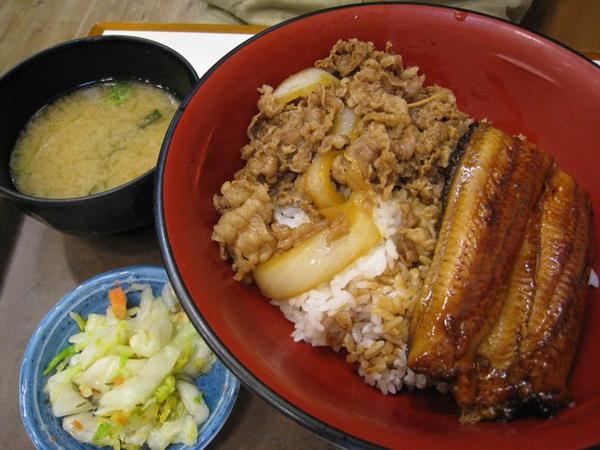 老爺的鰻魚飯及味噌湯、小菜