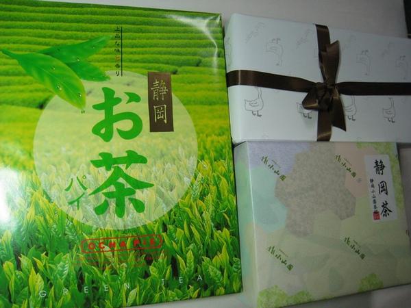 日本好友送的綠茶和餅乾、點心