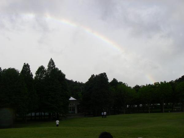 難得出現的彩虹