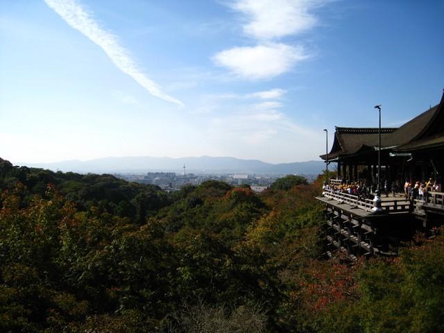 可以看到京都的風景