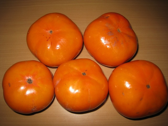 日本好友送的自家柿子