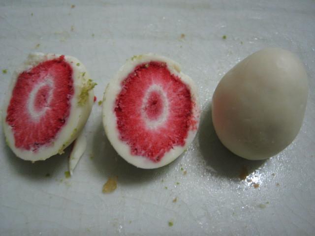 裡面真的是一顆乾燥的草莓