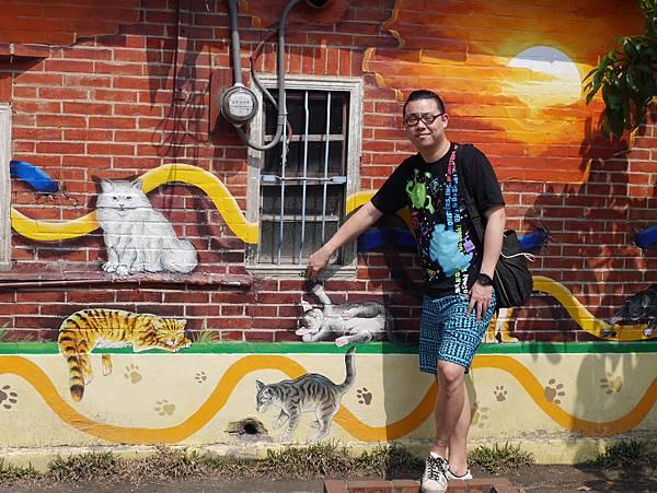 4雲林頂溪貓彩繪村 屋頂上的貓 (9)
