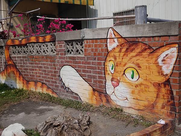 4雲林頂溪貓彩繪村 屋頂上的貓 (39)