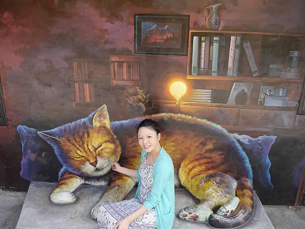 4雲林頂溪貓彩繪村 屋頂上的貓 (19)
