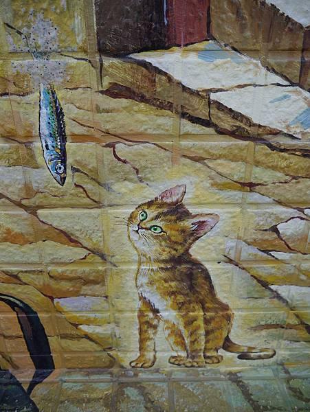 4雲林頂溪貓彩繪村 屋頂上的貓 (36)