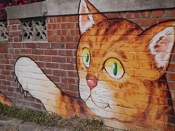 4雲林頂溪貓彩繪村 屋頂上的貓 (38)