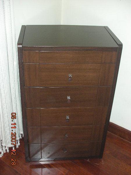 實木五斗櫃帶鏡子與首飾收納1
