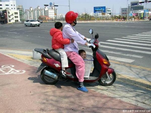 機車的兒童安全座椅