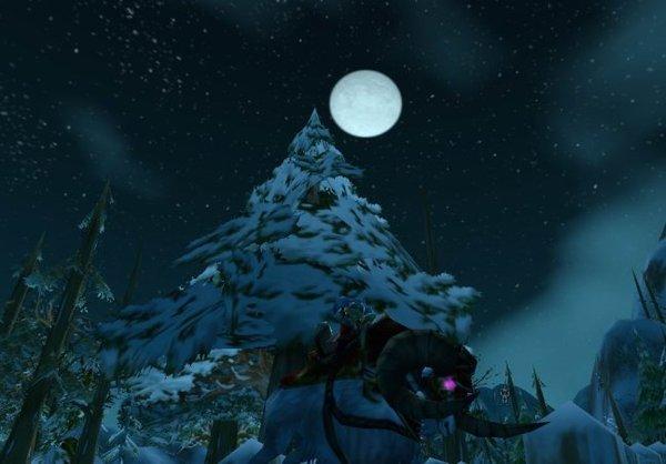 月色下的地精法師騎山羊