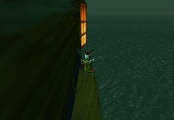 搭霸王船...只能坐在船側