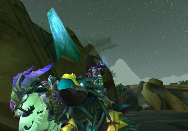 我的烏鴉領主坐騎和朋友的塔巴羅