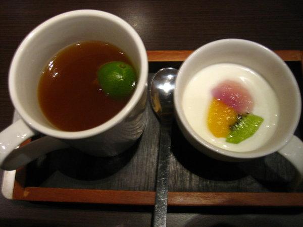品田牧場-熱水果茶和奶酪