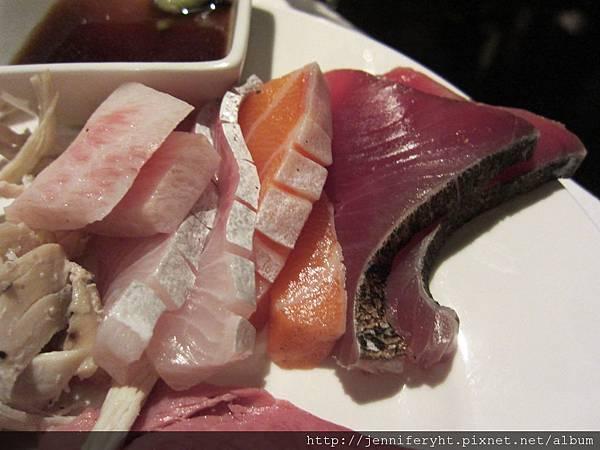 生魚片很漂亮