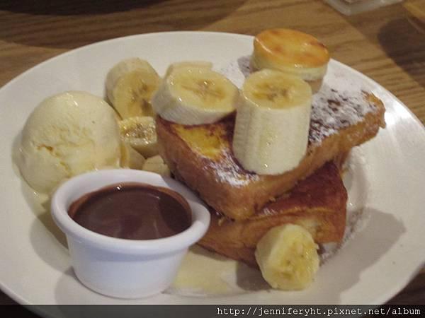 香蕉巧克力紐約布丁吐司