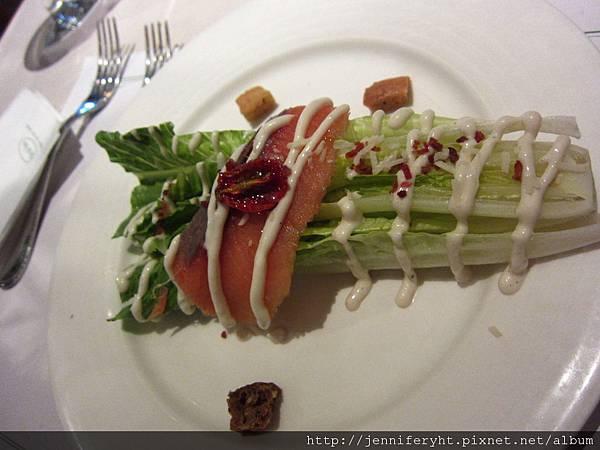 挪威煙燻鮭魚凱薩沙拉