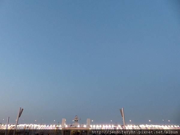 盤浦大橋的彩虹噴泉