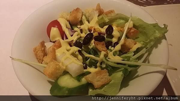 生菜沙拉+蜂蜜芥末醬