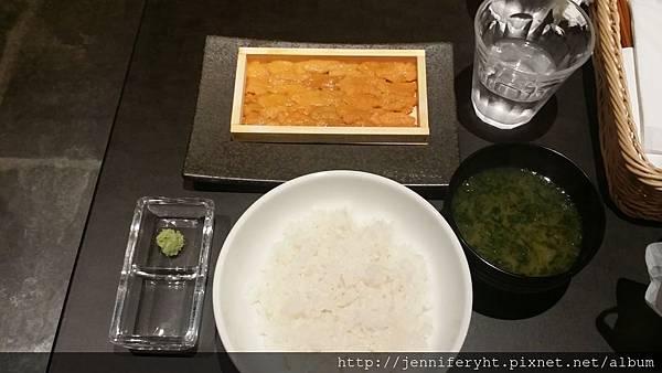 一盤海膽+飯+湯