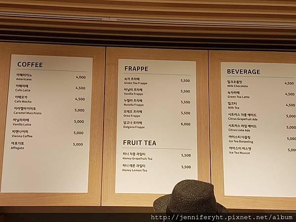 Ryan Cafe的MENU