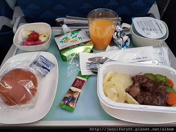 首爾→北海道機上餐