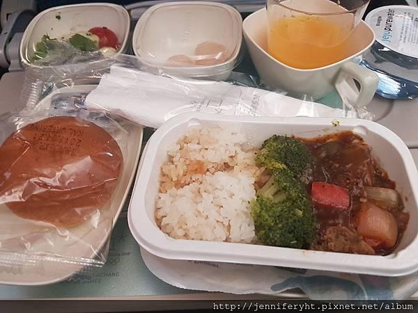 首爾→台北機上餐