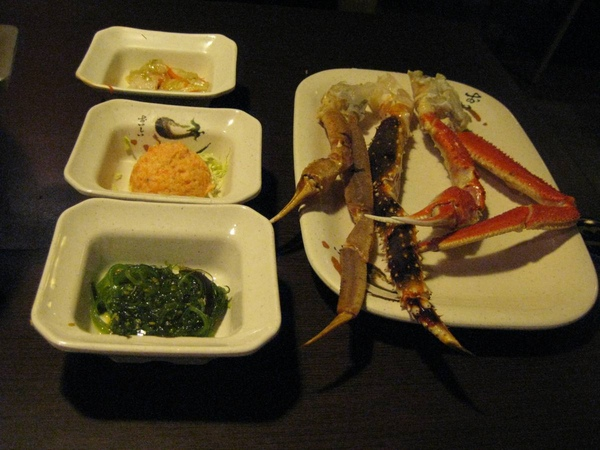 紅蟹將軍-小菜和蟹腳