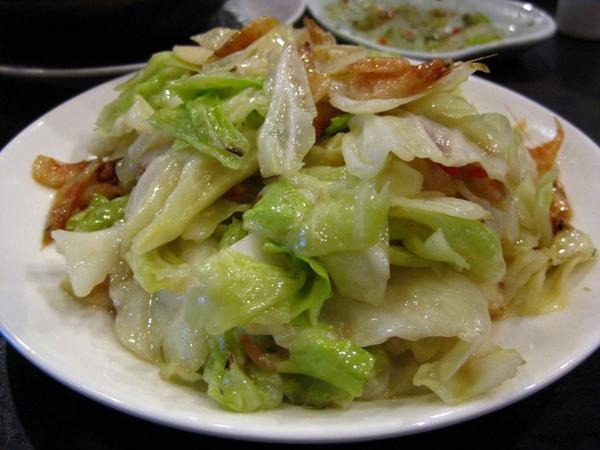 點水樓-櫻花蝦炒高麗菜