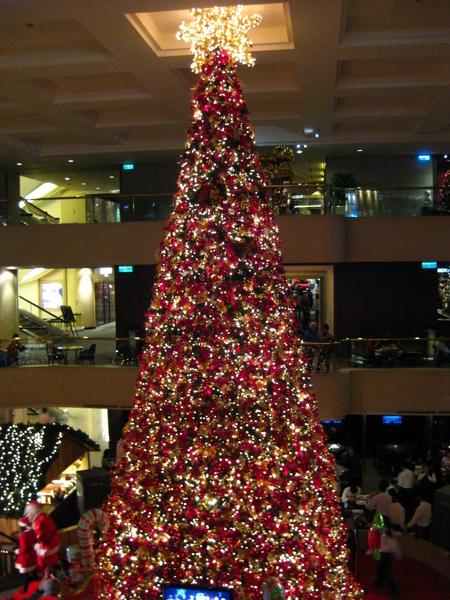 晶華酒店內的聖誕樹