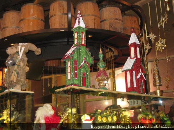 店內的聖誕裝飾