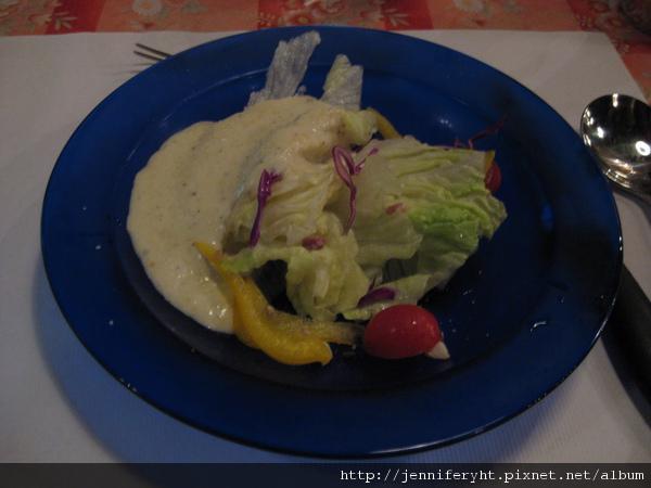 生菜沙拉+凱撒醬