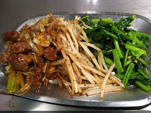 香連鐵板燒-青菜和菲力牛排