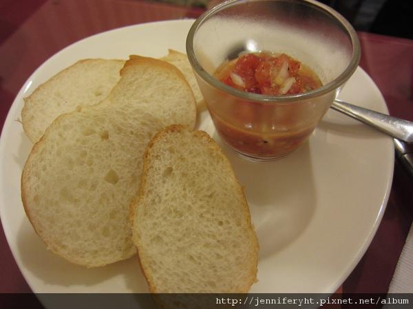 麵包和莎莎醬