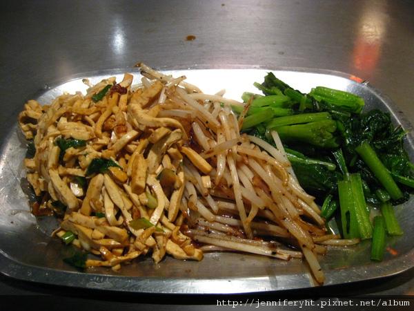 香連鐵板燒-青菜和豆干