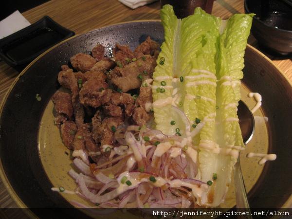 炸雞野菜丼