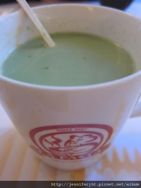 熱抹綠奶茶