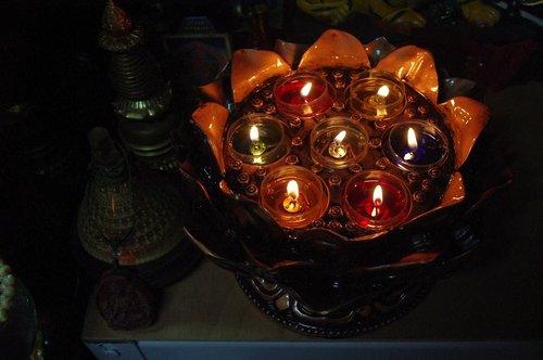 七彩蓮花燈