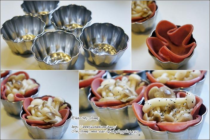 焗烤菇菇火腿塔3