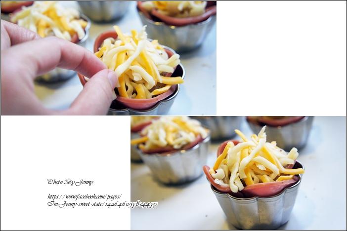 焗烤菇菇火腿塔4