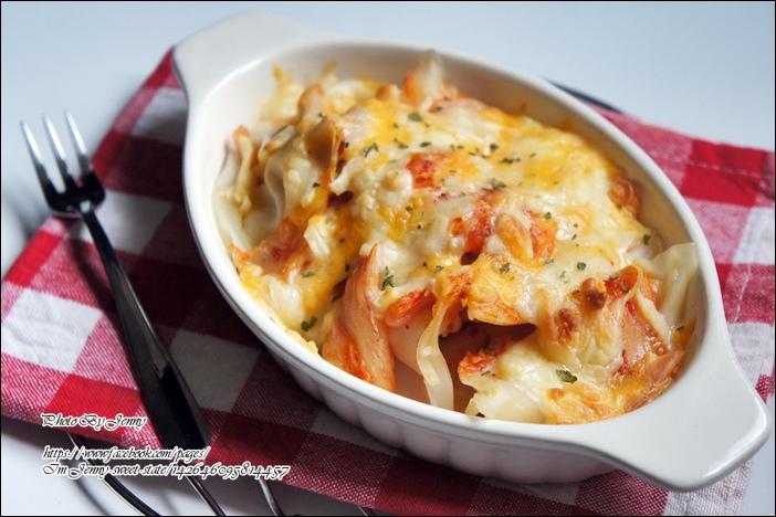 泡菜焗烤水餃3