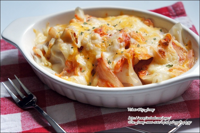 泡菜焗烤水餃4