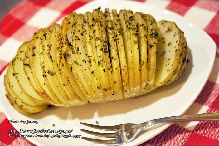 烤手風琴馬鈴薯4