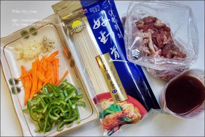 魚香肉絲炒麵1
